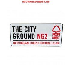 Nottingham Forest utcanévtábla - eredeti, hivatalos klubtermék