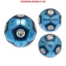 Manchester City aláírásos szurkolói focilabda (5-ös, normál méretben)- Tökéletes focis ajándék