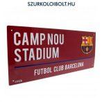 FC Barcelona utcanévtábla  (színes) - eredeti, hivatalos klubtermék