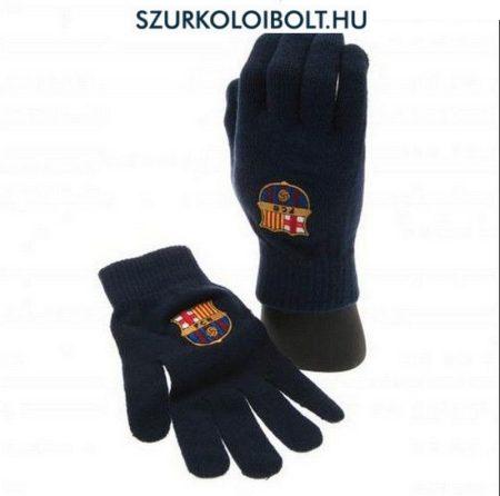 FC Barcelona kötött kesztyű (kék) - hivatalos szurkolói termék