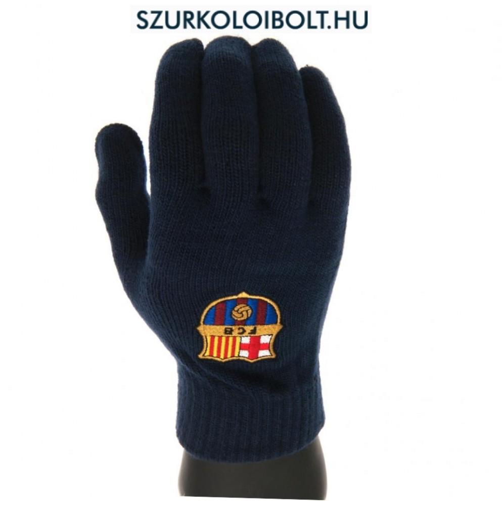 09b334ac1bef FC Barcelona kötött kesztyű (kék) - hivatalos szurkolói termék ...