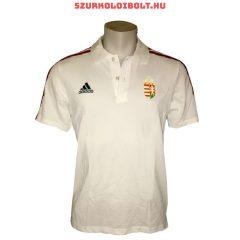 Adidas Magyar válogatott hivatalos póló hímzett címerrel (fehér) - kötelező szurkolói termék