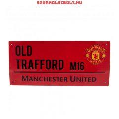 Manchester United FC red utcanévtábla - eredeti, hivatalos klubtermék