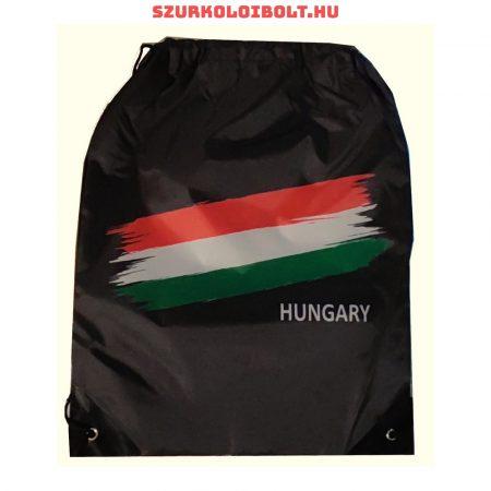 Magyarország zsinórtáska, tornazsák - eredeti, hivatalos klubtermék (fekete)