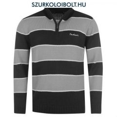 Pierre Cardin Zip pullover -  Pierre Cardin zipzáras pulcsi (fekete - szürke)