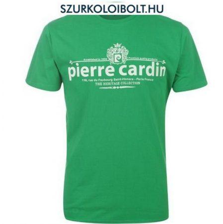 Pierre Cardin póló (zöld, feliratos)