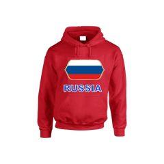 Orosz feliratos kapucnis pulóver (piros) - Orosz válogatott pulcsi