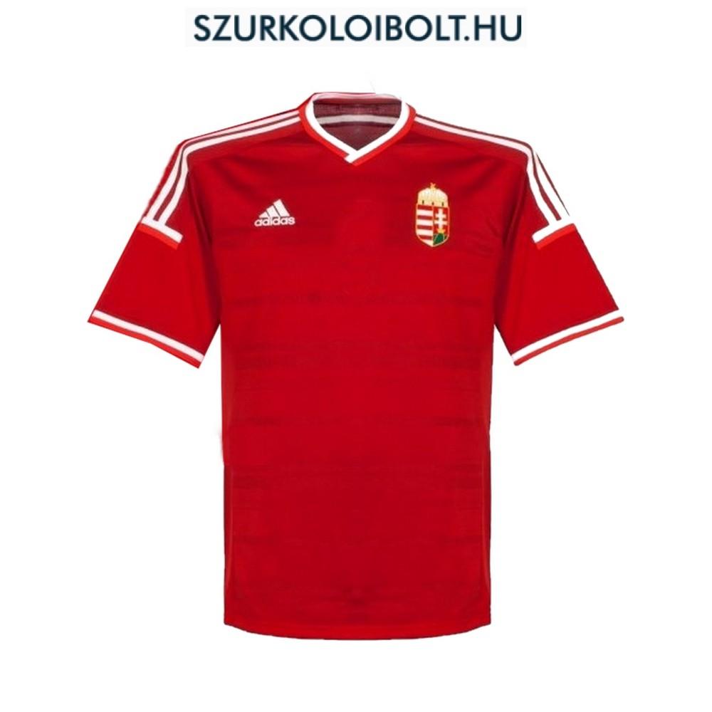 Adidas Magyar válogatott hivatalos hazai mez hímzett címerrel ... 919dc57054