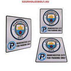 Manchester City FC parkoló szurkoló tábla - eredeti, hivatalos klubtermék