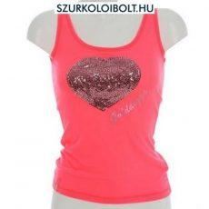 Golddigga Heart Vest ujjatlan flitteres női top (pink)