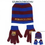 FC Barcelona szurkolói gyerek sapka és kesztyű szet (több színben)