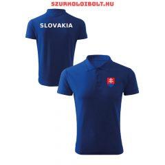 Szlovákia póló -  szurkolói ingnyakú / galléros póló (kék vagy fehér)