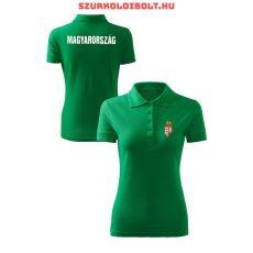 Hungary / Magyarország női póló - Magyarország női szurkolói ingnyakú / galléros póló (piros)