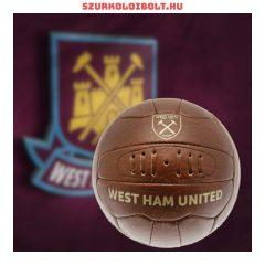 West Ham United labda - normál (5-ös méretű) West Ham United címeres szurkolói retro bőr focilabda