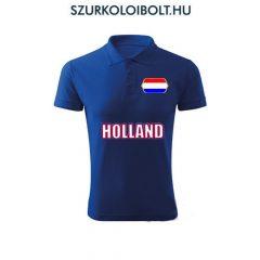 Holland póló -  szurkolói ingnyakú / galléros póló (kék)
