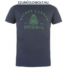 Pierre Cardin póló (kék, feliratos)