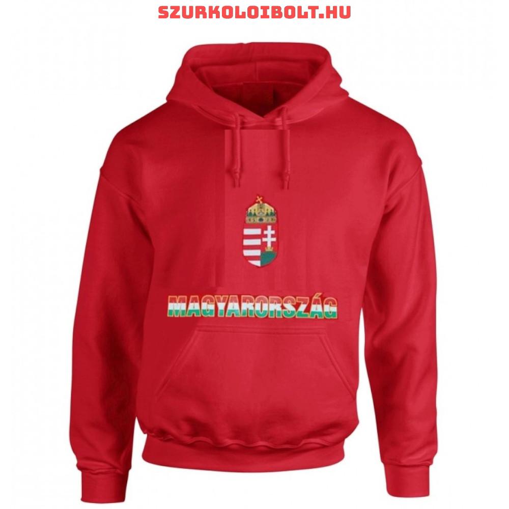 Hungary vagy Magyarország feliratos kapucnis pulóver (Piros ... 14b287986f