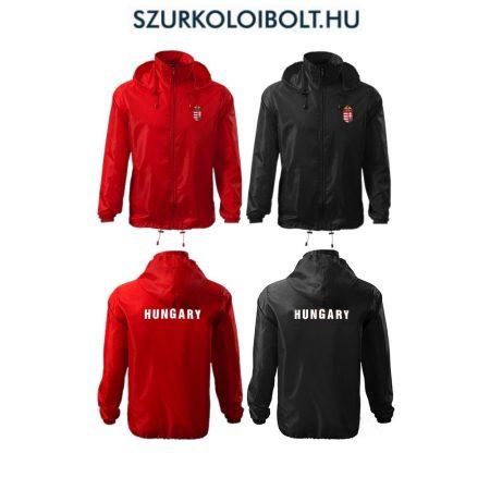 Hungary feliratos széldzseki / esőkabát - magyar válogatott dzseki (piros és fekete színben) kapucnis és kapucni nélküli kivitelben