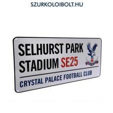 Crystal Palace utcanévtábla (kerek címeres) - eredeti, hivatalos klubtermék
