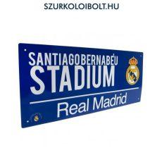 Real madrid utcanévtábla (kék) - eredeti, hivatalos klubtermék